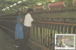 Transkei - Maximum Card Of 1988 - MiNr. 218 - Ceiling Production - Spinning - Transkei