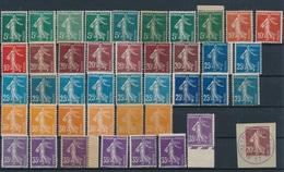 """CZ-140: FRANCE :lot """"Semeuses Camées""""* N°137/142 Pour Teintes Et Types (dont N°142 Type 2*) - 1906-38 Sower - Cameo"""