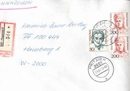 ! 1 Einschreiben 1993 Mit Alter Postleitzahl + DDR R-Zettel  Aus 2821 Hagenow, Stempel Pritzier, Mecklenburg - Briefe U. Dokumente