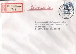 ! 1 Einschreiben 1993 Mit Alter Postleitzahl + DDR R-Zettel  Aus 2841 Neuhaus - Briefe U. Dokumente