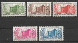 AEF 1939  N° 72 à 76  N* Charnière - A.E.F. (1936-1958)