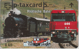 SUISSE - PHONE CARD - TAXCARD-PRIVÉE *** TRAIN - ZUG - 150 ANS / 8 *** - Suisse