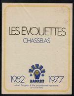 Etiquette De Vin // Les Evouettes, Chasselas, Vevey-Basket 1952-1977 - Andere