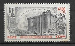 AEF 1939  Poste Aérienne N° 9  N* Charnière - Ungebraucht