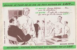 9/53  BUVARD Quand Le Tour De La Vie Se Fait Autour Du LAIT - Produits Laitiers