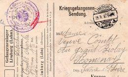 CL- Camp De Prisonniers De Guerre- LIMBURG - - Marcofilia (sobres)
