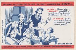 9/54  BUVARD Quand Le Tour De La Vie Se Fait Autour Du LAIT A TOUS AGES A TOUTE HEURE EN TOUS LIEUX... - Produits Laitiers