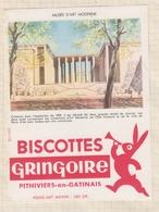 9/56  BUVARD BISCOTTES GRINGOIRE PHITIVIERS EN GATINAIS MUSEE D'ART MODERNE - Biscottes