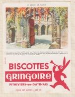 9/58  BUVARD BISCOTTES GRINGOIRE PHITIVIERS EN GATINAIS LE MUSEE DE CLUNY - Biscottes