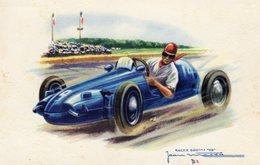 DB Panhard 500cc Racing Car  -  Illustrateur Jean Massa  -  Carte Postale - Grand Prix / F1