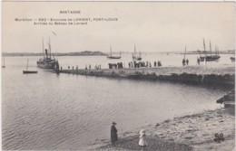 Bv - Cpa PORT LOUIS - Arrivée Du Bateau De Lorient (MTIL) - Port Louis