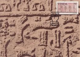 Venda - Maximum Card Of 1984 - MiNr. 88 - History Of The Writing - Cretan Hieroglyphs - Venda