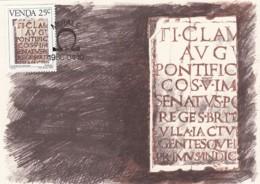Venda - Maximum Card Of 1986 - MiNr. 140 - History Of The Writing - Roman Script - Venda