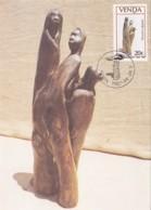 Venda - Maximum Card Of 1987 - MiNr. 156 - Wood Sculptures - Distant Drums - Venda