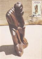 Venda - Maximum Card Of 1987 - MiNr. 157 - Wood Sculptures - Sunrise - Venda
