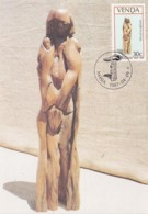 Venda - Maximum Card Of 1987 - MiNr. 158 - Wood Sculptures - Obedience - Venda