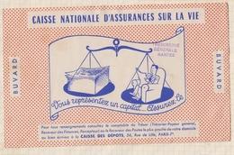 9/62  BUVARD CAISSE NATIONALE D'ASSURANCES SUR LA VIE  TRESORERIE NANTES - Banque & Assurance