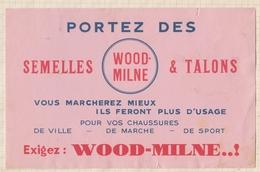 9/63  BUVARD SEMELLES WOOD MILNE - Chaussures
