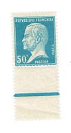 176 Pasteur 50 C Bleu Impression Recto Verso Luxe Avec Bande De Sécurité - Abarten Und Kuriositäten