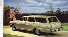 Chevrolet Chevy II 300 Station Wagon  -  1962  -  Factory/Dealer Advertising Postcard - CPSM - Voitures De Tourisme