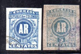 APR1969 - COLOMBIA 1902 ,  Lettres Chargees 5 E 10 Cent  Usati (2380A) - Colombia