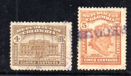 APR1979 - COLOMBIA 1918 ,  Lettres Chargees Serie N. 62/63  Usato (2380A) - Colombia