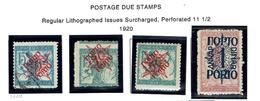 JUGOSLAVIA...1920...used/mh...issues For Slovenia....postage Due ... - Postage Due