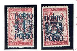JUGOSLAVIA...1920...used/mh...issues For Slovenia....postage Due . - Timbres-taxe