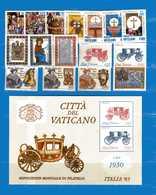 Vaticano **- 1985 - Annata Completa. 16 Valori . Con . BF.  MNH - Annate Complete