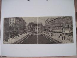 CPA  13  MARSEILLE La Place De La Bourse Rare Double Carte Panorama  1905 TBE - Marseilles