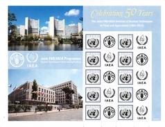 UN ONU Vienna Personalized Sheet  MNH  2014 50 Years FAO/IAEA - Blocks & Sheetlets