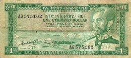 ETHIOPIA 1 DOLLAR 1966 P-25 - Ethiopië