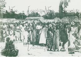 Photographie Marché Local - Tribus De L'Uele - Congo - Années 30 - Africa