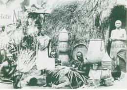 Photographie Vannerie Dans Un Village Le Long De L'Uele - Congo - Années 30 - Afrique