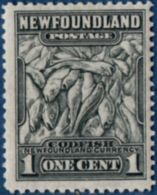 Newfoundland 1941, 1 C Cod Fish 1 Value MH, Line Perf 12½ - Fishes