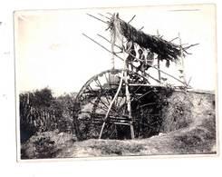 Photos:originales Indochine :Vietnam 2 Photos Rizières 1933  Une Noria, Le Repiquage Du Riz Région De Quinhon - Plaatsen