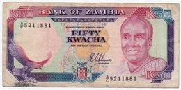 ZAMBIA 50 KWACHA 1989 P-33 VF - Zambia