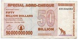 ZIMBABWE 50 BILLION 2008 P-63 XF - Zimbabwe