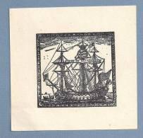 """Vintage EX LIBRIS  /  BOOKPLATE Portugal """"CONDE DE SAO VICENTE"""" - Ex-libris"""