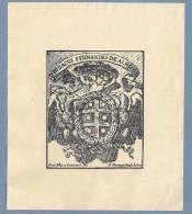 D.DIDACUS FERNANDES DE ALMEIDA Exlibris Vintage BOOKPLATEwith COAT Of ARMS Portugal - Ex-libris