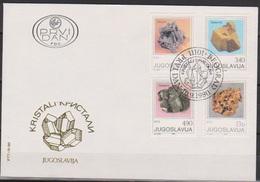 Jugoslawien 1980 FDC Nr.1849 - 1852 Kristalle ( D 5790) Günstige Versandkosten - FDC
