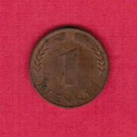 """GERMANY  1 PFENNIG 1950 """"J"""" (KM # 105) #5315 - [ 7] 1949-… : FRG - Fed. Rep. Germany"""