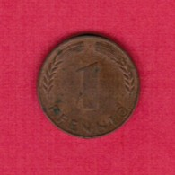 "GERMANY  1 PFENNIG 1950 ""J"" (KM # 105) #5315 - [ 7] 1949-…: BRD"