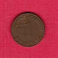 """GERMANY  1 PFENNIG 1950 """"G"""" (KM # 105) #5316 - [ 7] 1949-… : FRG - Fed. Rep. Germany"""