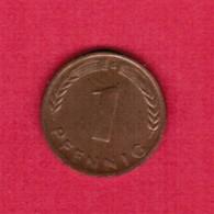 """GERMANY  1 PFENNIG 1950 """"G"""" (KM # 105) #5317 - [ 7] 1949-… : FRG - Fed. Rep. Germany"""