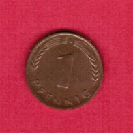 "GERMANY  1 PFENNIG 1950 ""G"" (KM # 105) #5317 - [ 7] 1949-…: BRD"