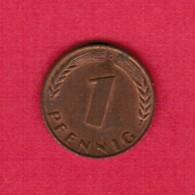 """GERMANY  1 PFENNIG 1966 """"G"""" (KM # 105) #5318 - [ 7] 1949-… : FRG - Fed. Rep. Germany"""
