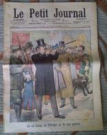 Le Roi Carlos De Portugal Au Tir Aux Pigeons, La Grève Des Musiciens, Le Petit Journal 16 Novembre 1902 - Journaux - Quotidiens