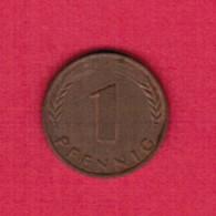 """GERMANY  1 PFENNIG 1967 """"J"""" (KM # 105) #5320 - [ 7] 1949-… : FRG - Fed. Rep. Germany"""