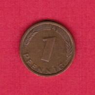 """GERMANY  1 PFENNIG 1971 """"A"""" (KM # 105) #5321 - [ 7] 1949-…: BRD"""